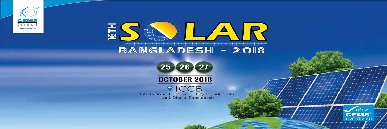 16th Solar Bangladesh 2018 International Expo